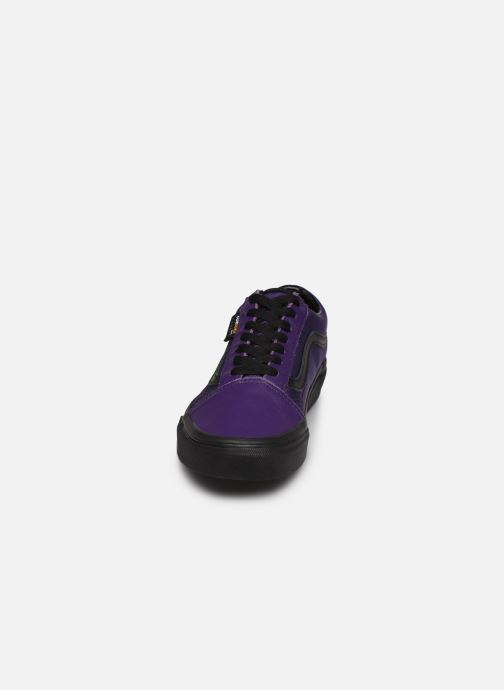 Baskets Vans Old Skool W Violet vue portées chaussures