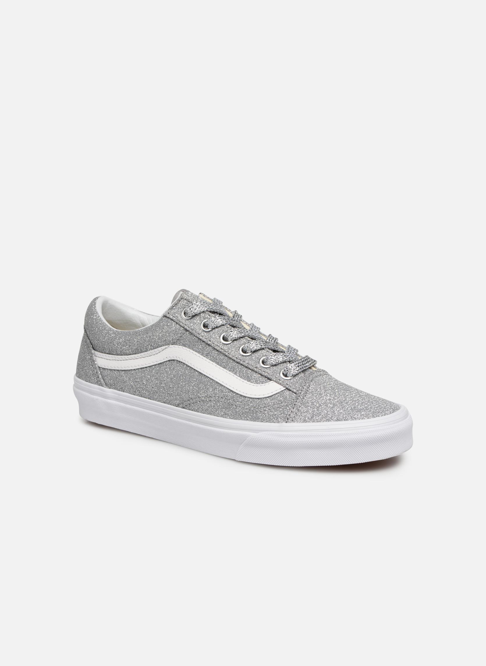 (Lurex Glitter) Silver/True White
