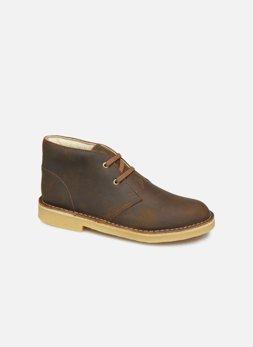 Ankelstøvler Clarks Desert Boot Brun detaljeret billede af skoene