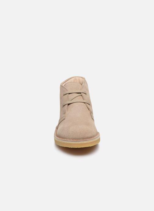 Stiefeletten & Boots Clarks Desert Boot beige schuhe getragen