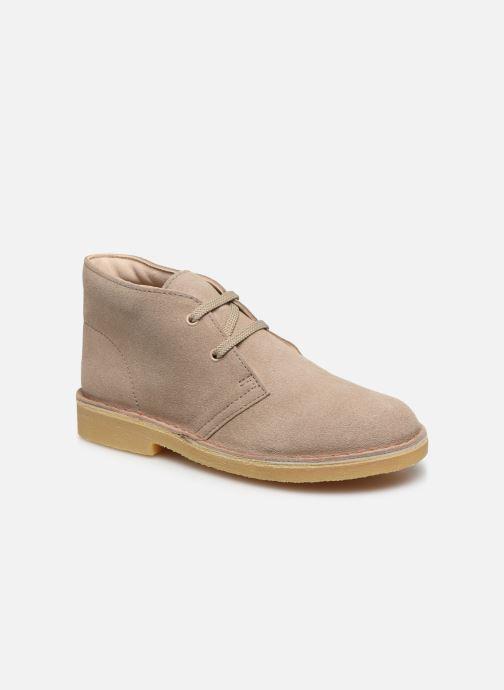 Bottines et boots Clarks Desert Boot Beige vue détail/paire