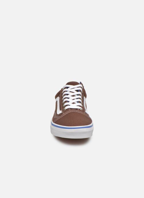 Baskets Vans Old Skool Marron vue portées chaussures