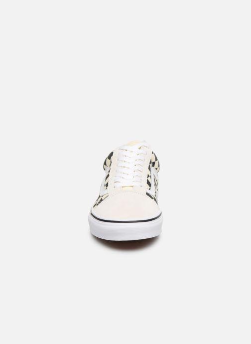 Baskets Vans Old Skool Beige vue portées chaussures