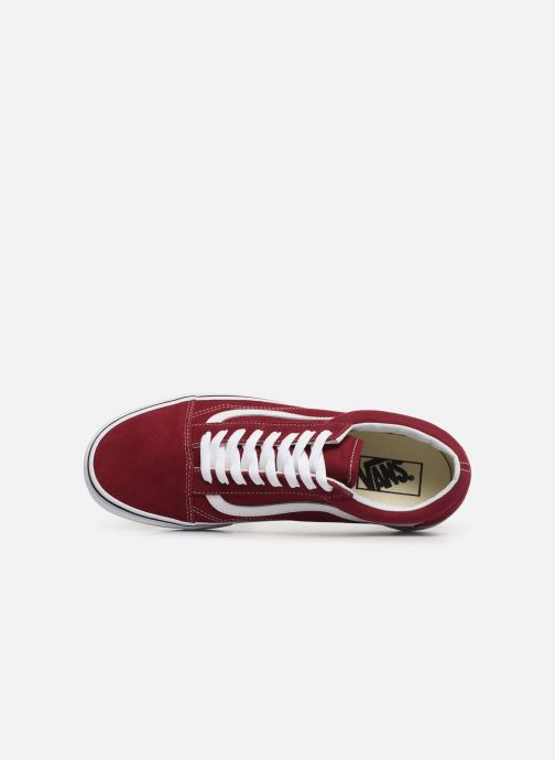 Sneaker Vans Old Skool weinrot ansicht von links