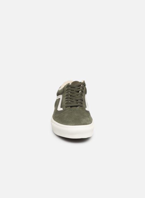 Baskets Vans Old Skool Vert vue portées chaussures