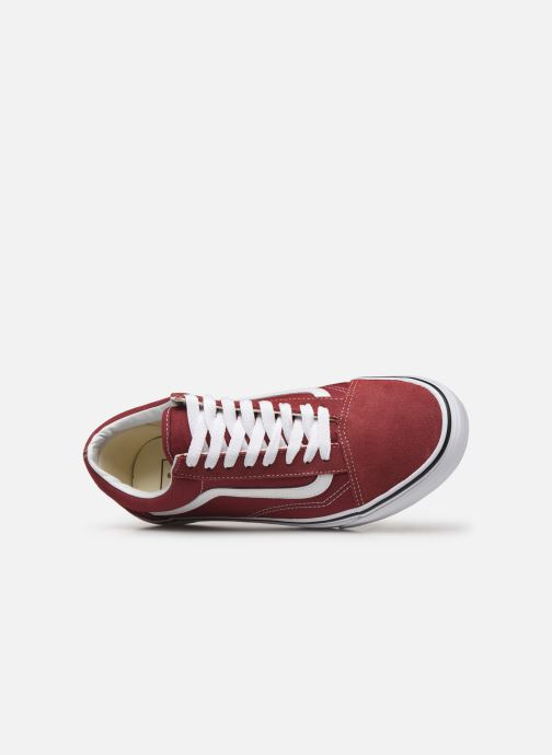 Baskets Vans Old Skool Bordeaux vue gauche