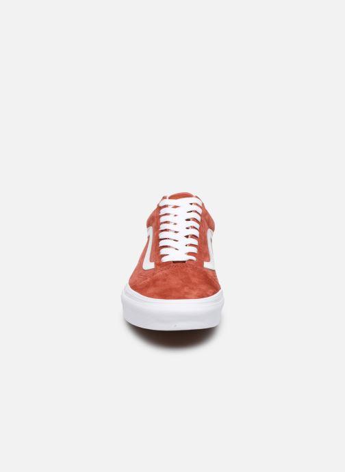 Baskets Vans Old Skool Orange vue portées chaussures