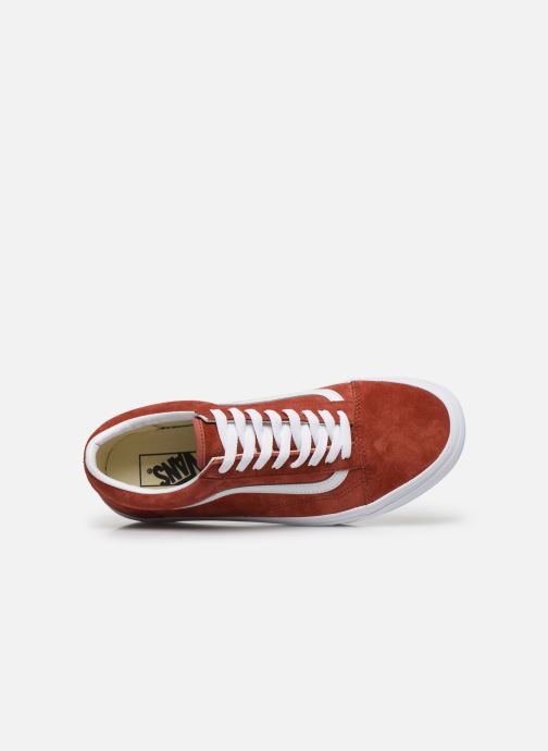 Baskets Vans Old Skool Orange vue gauche