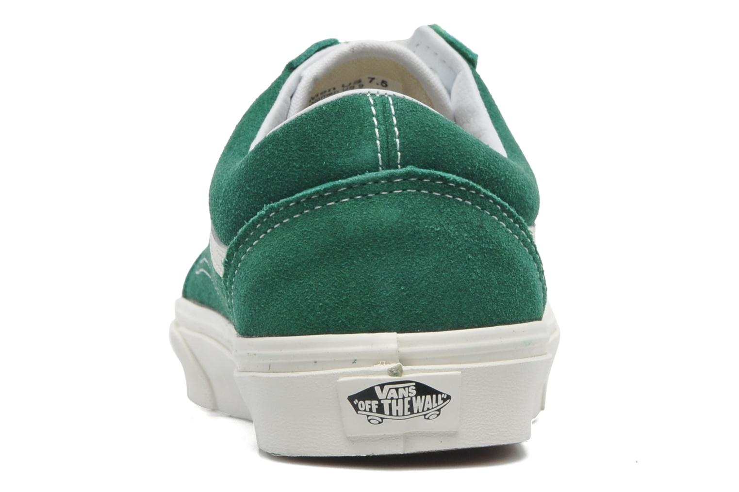 Trainers Vans Old Skool Green view from the right