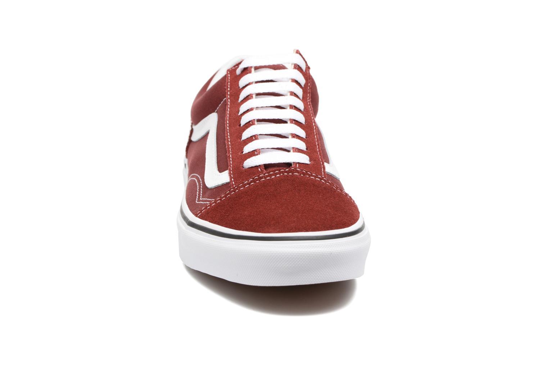 Baskets Vans Old Skool Bordeaux vue portées chaussures