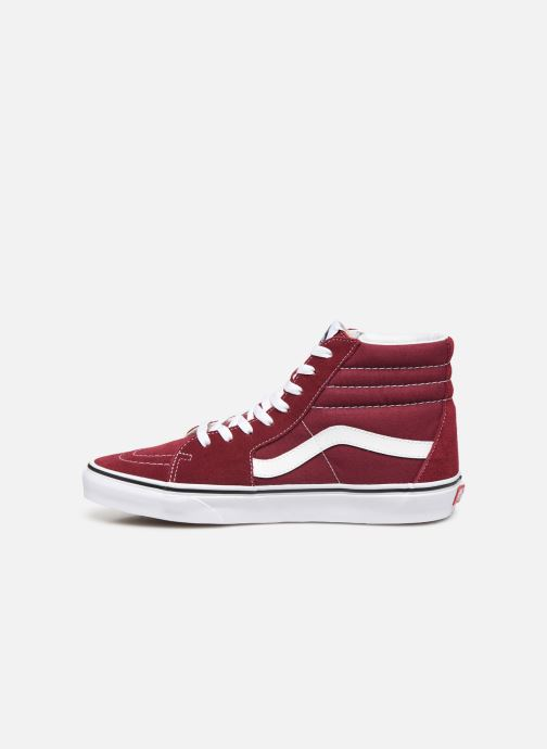 Baskets Vans SK8 Hi M Bordeaux vue face