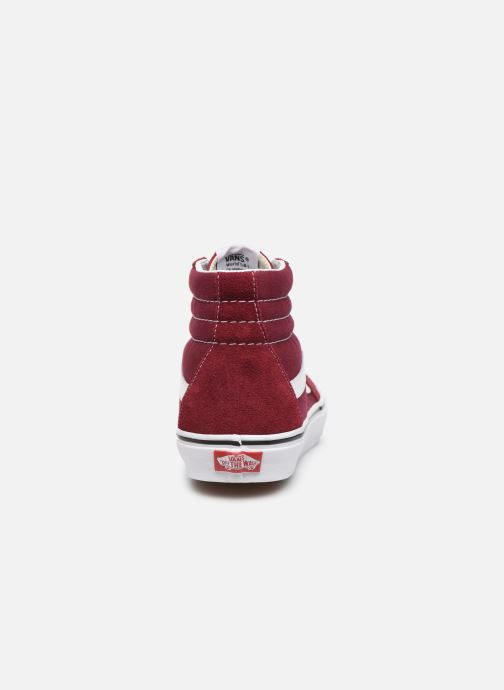 Trainers Vans SK8 Hi M Burgundy view from the right