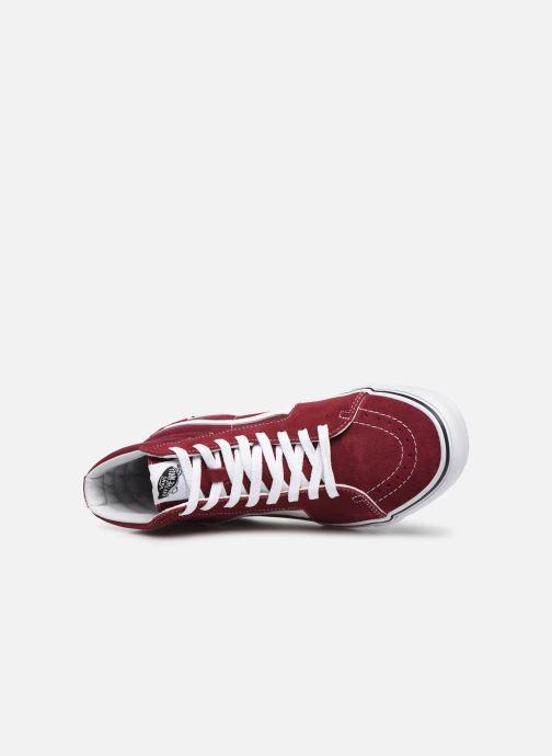 Sneaker Vans SK8 Hi M weinrot ansicht von links