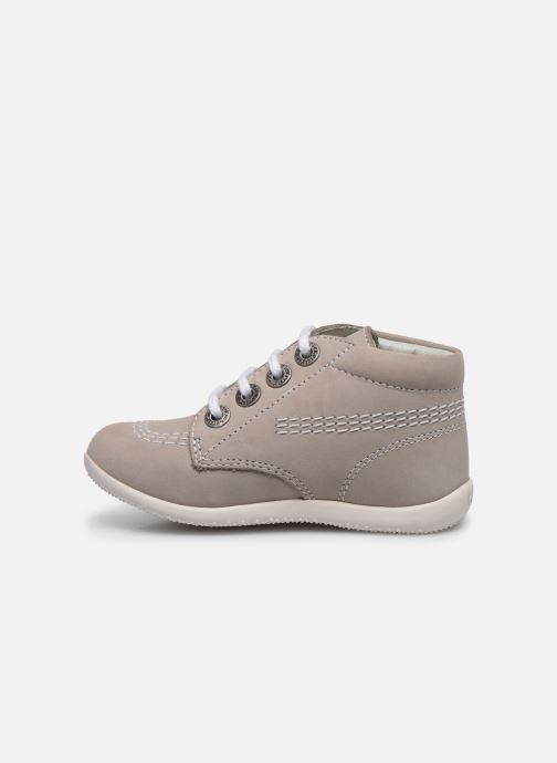 Chaussures à lacets Kickers BILLY B Gris vue face