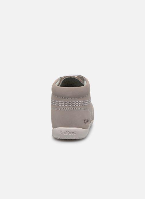 Zapatos con cordones Kickers BILLY B Gris vista lateral derecha