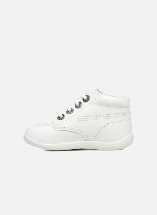 Chaussures à lacets Kickers BILLY B Blanc vue face