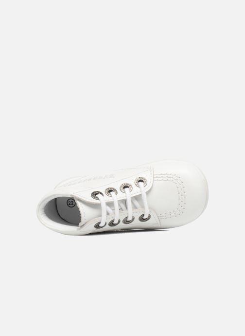 Chaussures à lacets Kickers BILLY B Blanc vue gauche