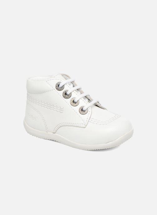 Chaussures à lacets Kickers BILLY B Blanc vue détail/paire