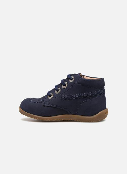 Chaussures à lacets Kickers Billy Bleu vue face