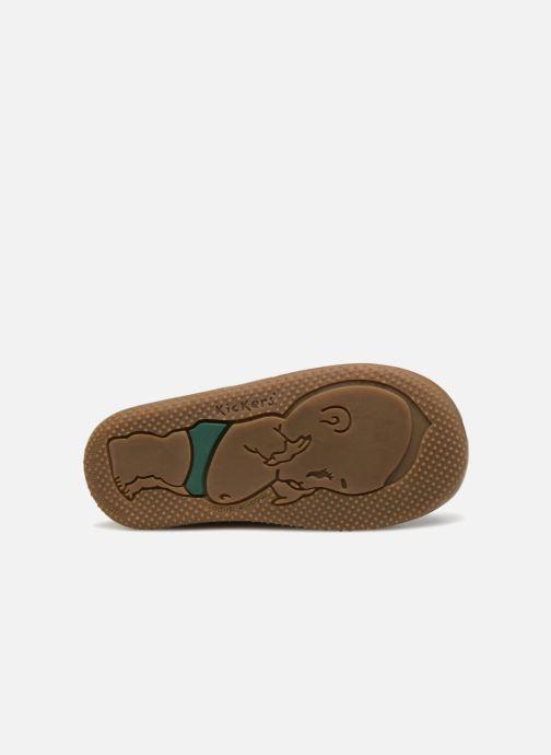 Chaussures à lacets Kickers Billy Bleu vue haut