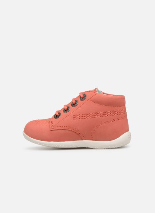 Zapatos con cordones Kickers BILLY B Rosa vista de frente
