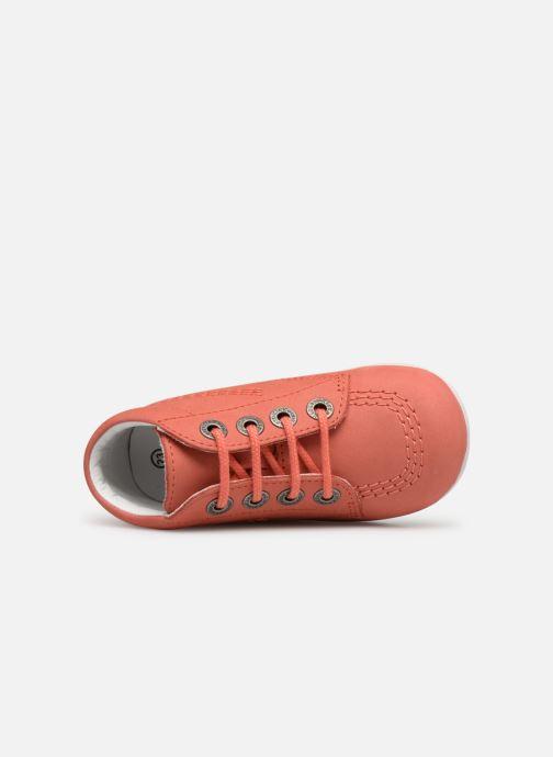 Zapatos con cordones Kickers BILLY B Rosa vista lateral izquierda