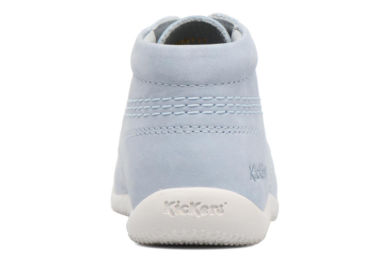 Zapatos con cordones Kickers Billy Azul vista lateral derecha