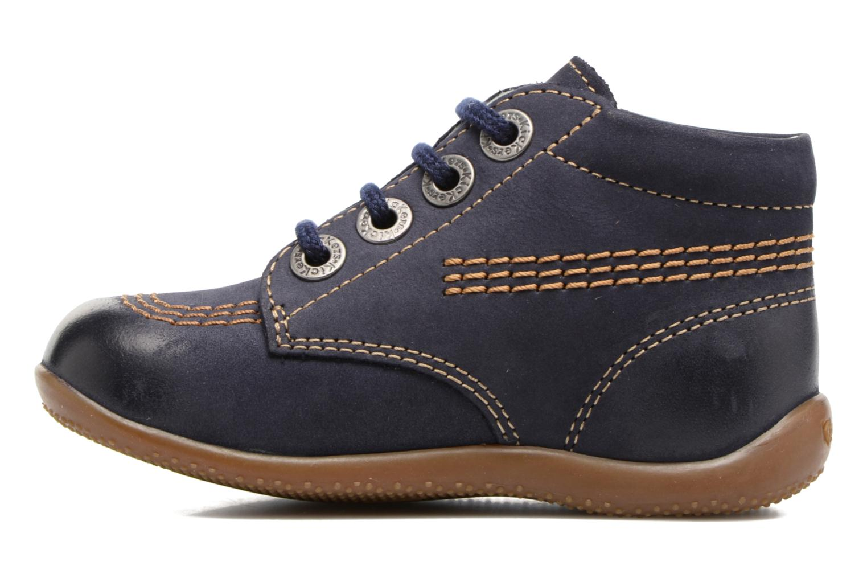 Zapatos con cordones Kickers Billy Negro vista de frente