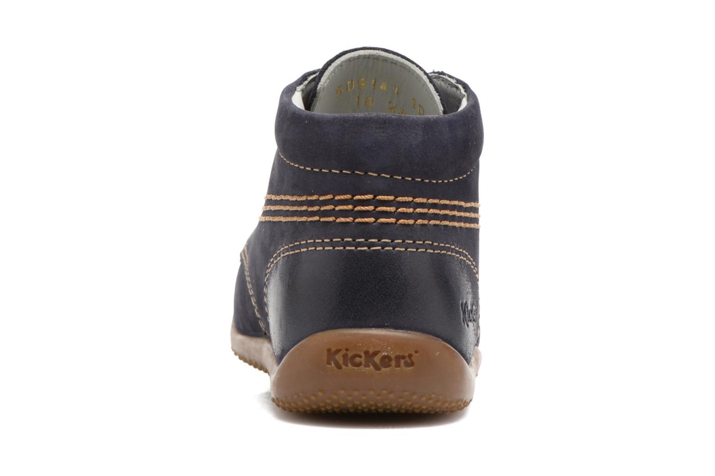 Zapatos con cordones Kickers Billy Negro vista lateral derecha