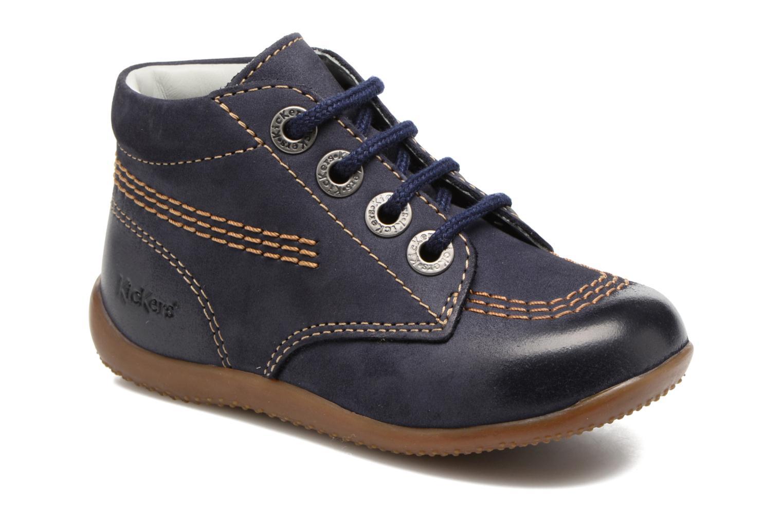 Zapatos con cordones Kickers Billy Negro vista de detalle / par
