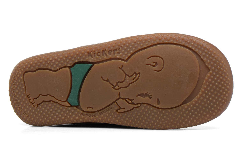 Chaussures à lacets Kickers Billy Marron vue haut