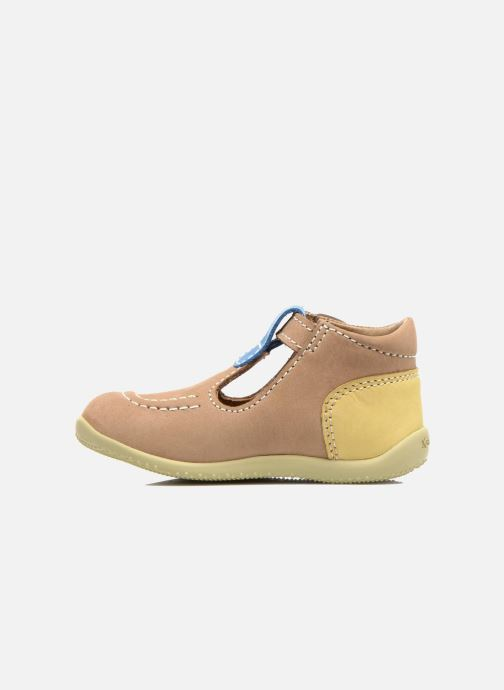 Bottines d'été Kickers Bonbek Beige vue face