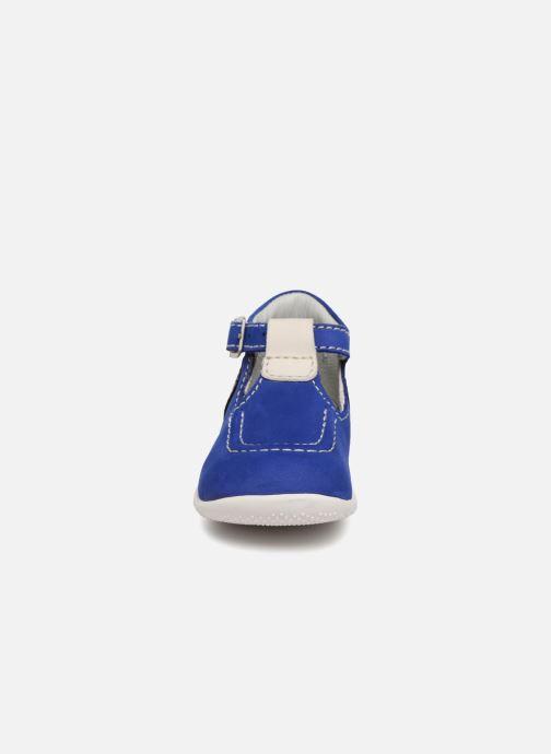 Bottines d'été Kickers Bonbek Bleu vue portées chaussures