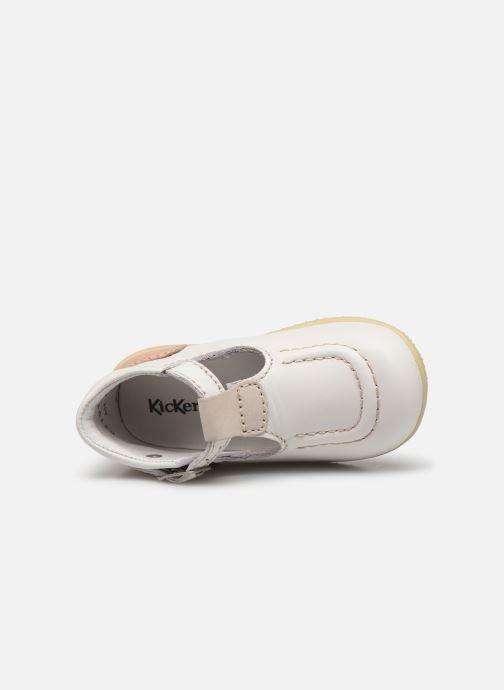Bottines d'été Kickers Bonbek Blanc vue gauche