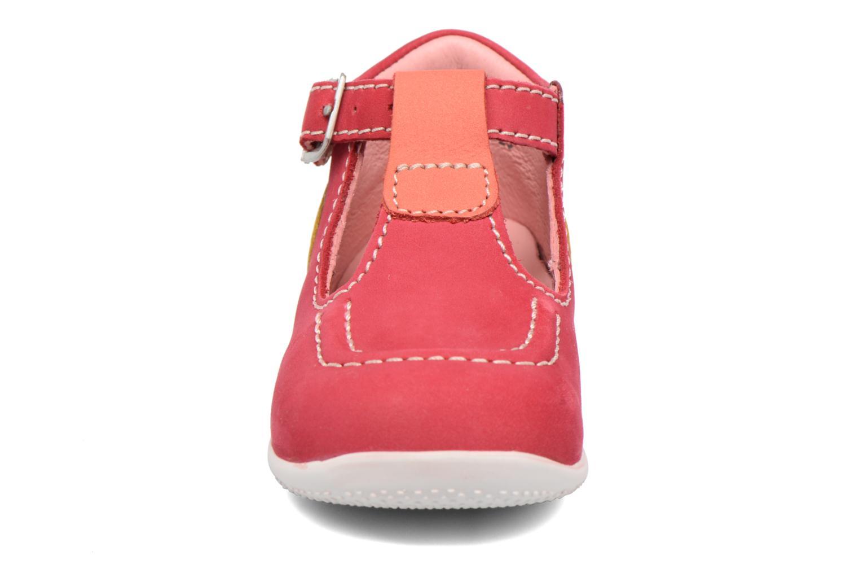 Bottines d'été Kickers Bonbek Rose vue portées chaussures