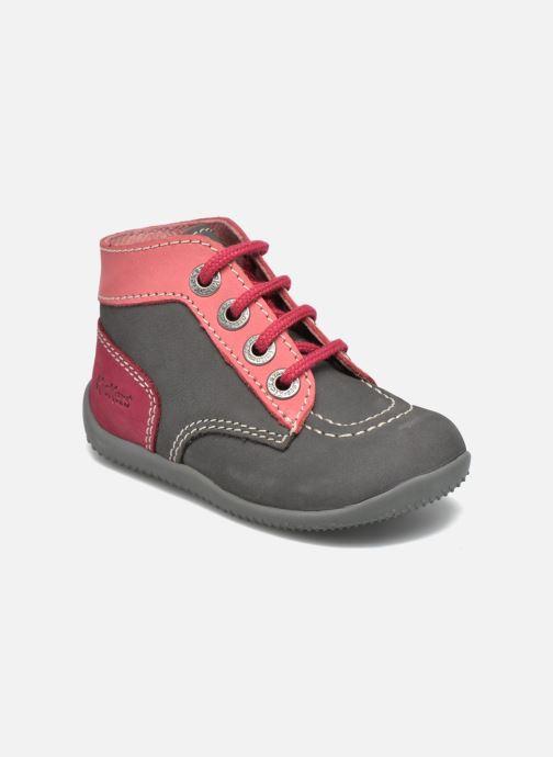 Bottines et boots Kickers Bonbon Gris vue détail/paire
