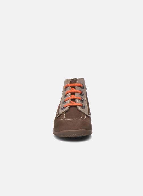 Stivaletti e tronchetti Kickers Bonbon Marrone modello indossato