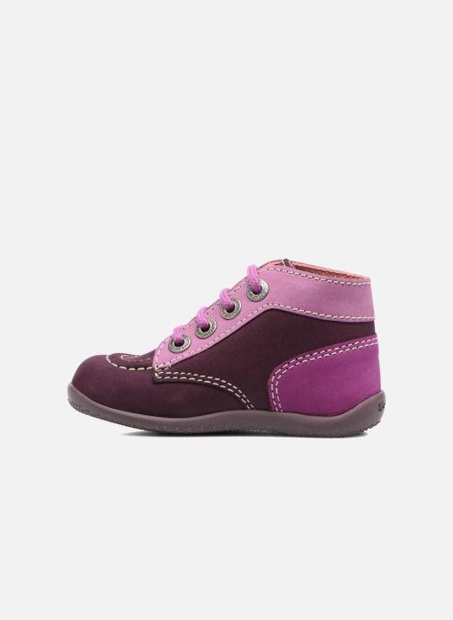 Bottines et boots Kickers Bonbon Violet vue face
