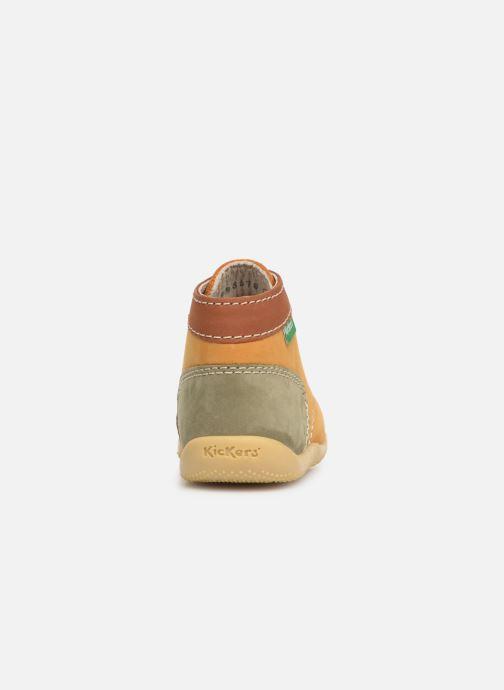 Bottines et boots Kickers Bonbon Jaune vue droite