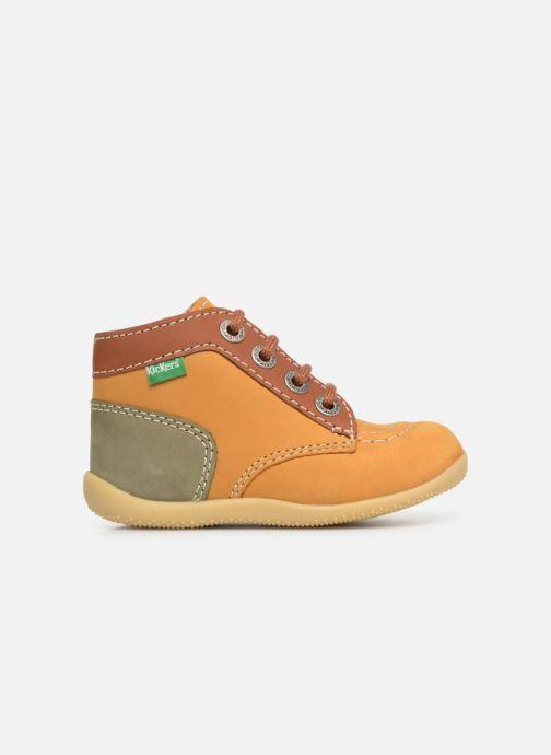 Boots en enkellaarsjes Kickers Bonbon Geel achterkant