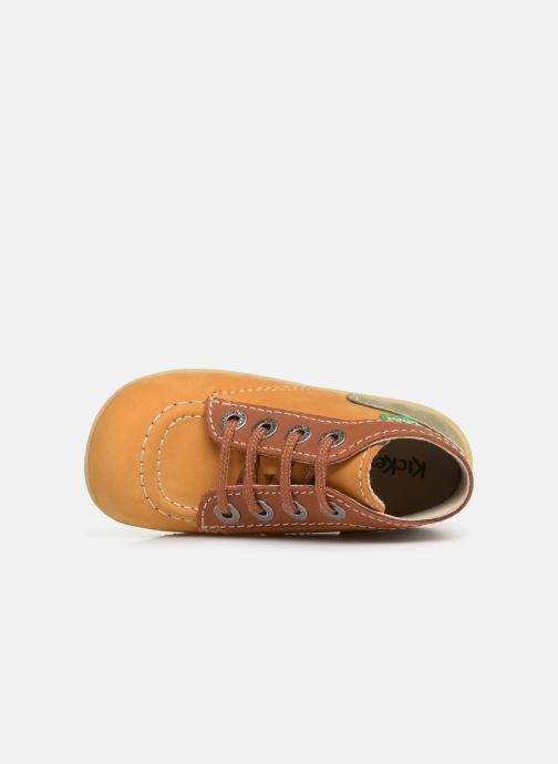 Bottines et boots Kickers Bonbon Jaune vue gauche