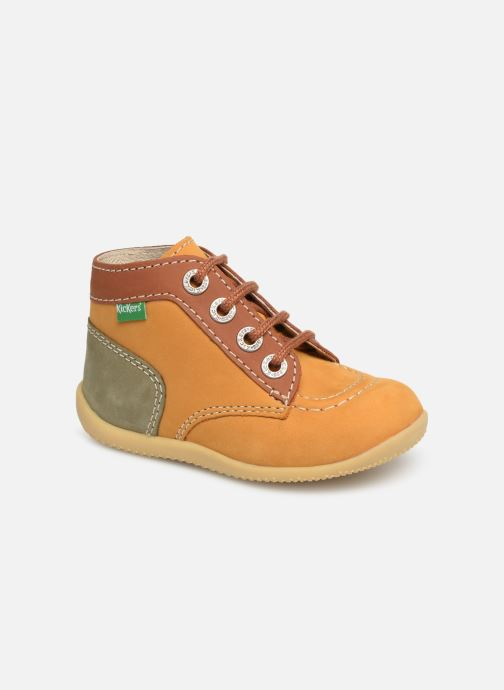 Boots en enkellaarsjes Kickers Bonbon Geel detail
