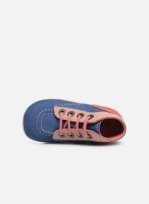 Bottines et boots Kickers Bonbon Bleu vue gauche