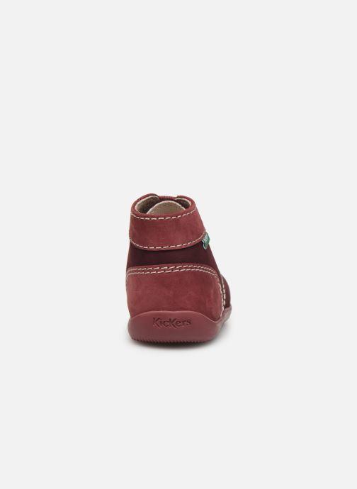 Boots en enkellaarsjes Kickers Bonbon Paars rechts