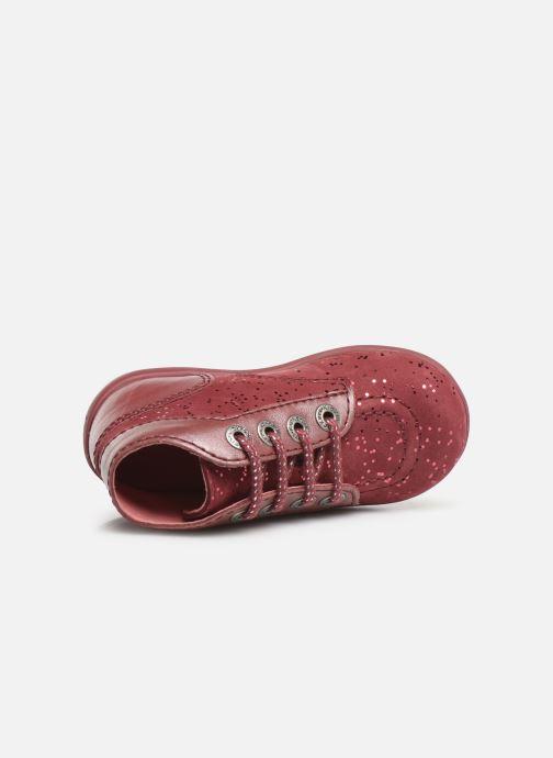 Boots en enkellaarsjes Kickers Bonbon Roze links