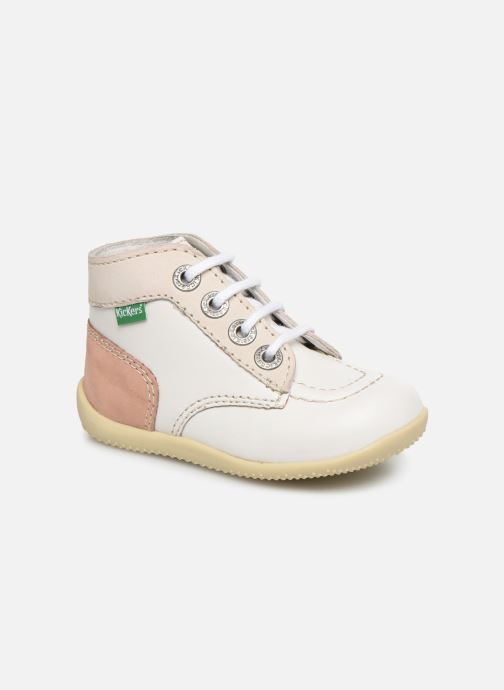 Bottines et boots Kickers Bonbon Blanc vue détail/paire