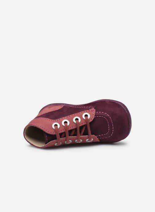 Bottines et boots Kickers Bonbon Violet vue gauche