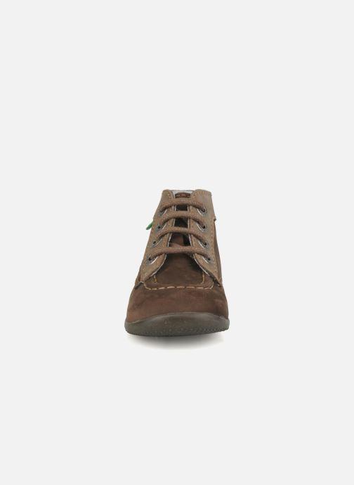 Bottines et boots Kickers Bonbon Marron vue portées chaussures