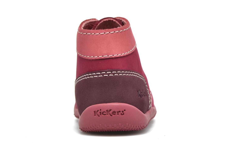 Stivaletti e tronchetti Kickers Bonbon Rosa immagine destra