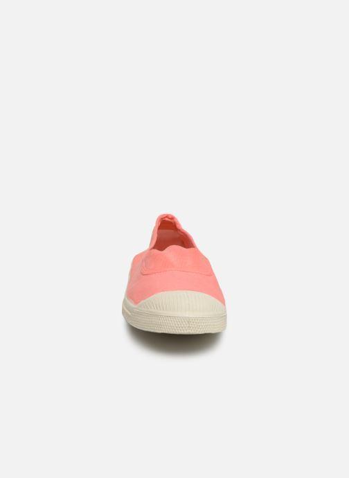 Sneakers Bensimon Tennis Elastique F Rosa modello indossato